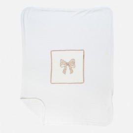 Κουβέρτα με κέντημα φιόγκο MAYORAL ,9388 ΕΚΡΟΥ