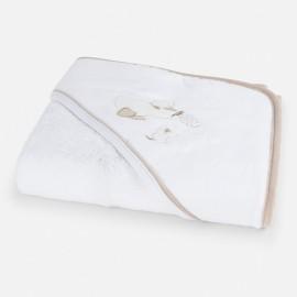Μπουρνουζοπετσέτα με κέντημα παπάκι MAYORAL,9431 ΕΚΡΟΥ