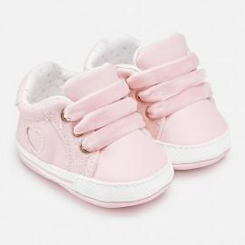 Παπούτσια αθλητικά δέρμα nobuck MAYORAL,9643 ΡΟΖ