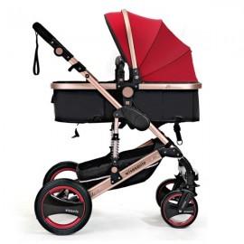 Καροτσάκι μωρού - Κόκκινο 2 σε 1