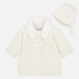 Παλτό και καπέλο πλεκτό Mayoral,2444 εκρου