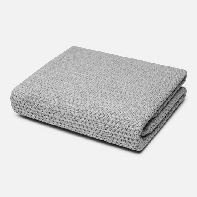 Κουβέρτα πλεκτή με γουνάκι Mayoral,9830 Γκρι