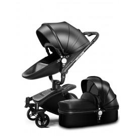 Καροτσάκι μωρού 360° μαυρο 2 σε 1
