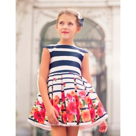 Φόρεμα σατέν σταμπωτό 5050 , ABEL & LULA