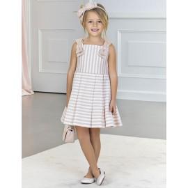 Φόρεμα ριγέ με φιόγκους 5056 , ABEL & LULA