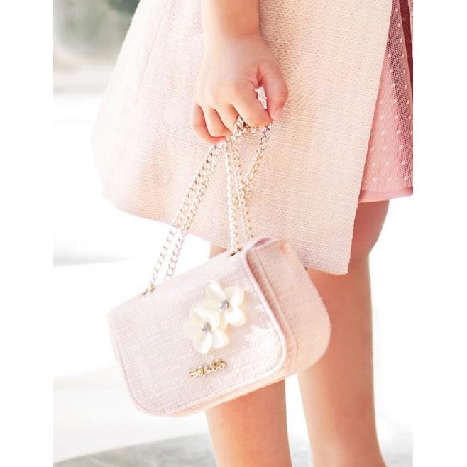 Τσάντα με floral απλικέ 5439 , ABEL & LULA