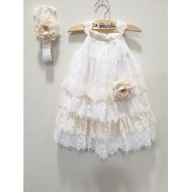 La Christine Φόρεμα Βάπτισης 19K149