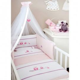 ΣΕΤ ΠΡΟΙΚΑΣ ΚΡΕΒΑΤΙΟΥ OLIVER, Sweet Pink. design 630